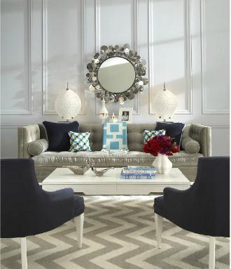 jonathan adler comfy glamour living room